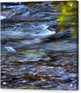 Pebbles Under Icicle Creek Washington State Acrylic Print