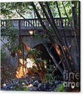 Pedestrian Bridge And Strawberry Creek  . 7d10132 Acrylic Print