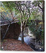 Pedestrian Bridge And Strawberry Creek  . 7d10152 Acrylic Print