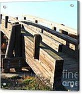 Pedestrian Bridge At Martinez Regional Shoreline Park In Martinez California . 7d10513 Acrylic Print