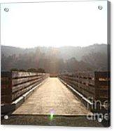 Pedestrian Bridge At Martinez Regional Shoreline Park In Martinez California . 7d10534 Acrylic Print