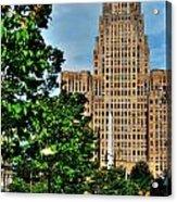 Pedestrian View Of City Hall Vert Acrylic Print