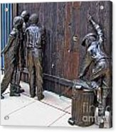 Peeking At Baseball Game Sculpture Acrylic Print