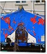 Peeling Blue Acrylic Print