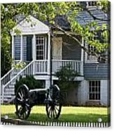 Peers House And Cannon Appomattox Court House Virginia Acrylic Print