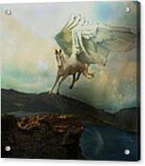 Pegasus Flying Horse Acrylic Print