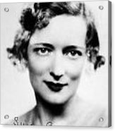 Peggy Wood (1892-1978) Acrylic Print