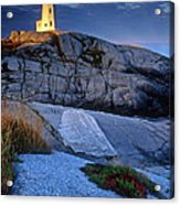 Peggys Cove Lighthouse Nova Scotia Acrylic Print