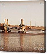 Pelham Bridge In Sepia Acrylic Print
