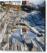 Pemaquid Point Reflections Acrylic Print by George Oze