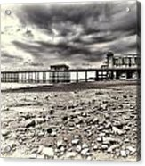 Penarth Pier Cream Acrylic Print