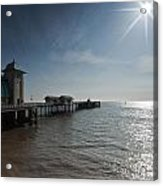Penarth Pier Sun Acrylic Print