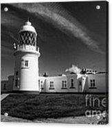 Pendeen Lighthouse Mono Acrylic Print