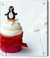 Penguin Cupcake Acrylic Print
