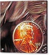 Pennies Abstract 2 Acrylic Print