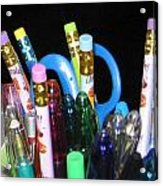 Pens And Pencils Acrylic Print