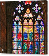 Pentecost Window - St. Vitus Cathedral Prague Acrylic Print