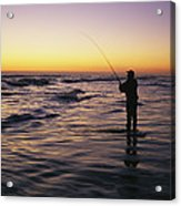 People Are Surf Fishing For Red Drum Acrylic Print