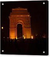 People Gathered Around India Gate Acrylic Print