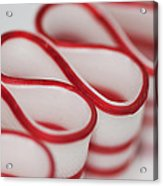 Peppermint Christmas Ribbons Acrylic Print