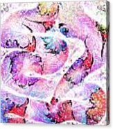 Peppermint Snake Acrylic Print