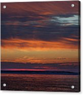 Perdido Pass Red Sunrise Acrylic Print