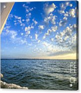 Perfect Evening Sailing On The Charleston Harbor Acrylic Print by Dustin K Ryan