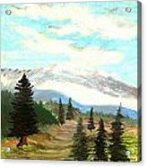 Perfect Pines Peak Acrylic Print
