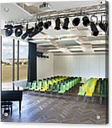 Performance Room With A Piano Acrylic Print