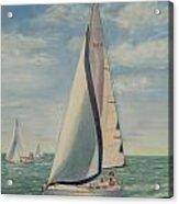 'perpetual Motion Racing In The Atlantic Acrylic Print