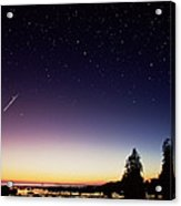 Perseid Meteor Trail Acrylic Print by David Nunuk