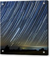 Perseid Smoky Mountain Startrails Acrylic Print by Daniel Lowe