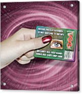 Personal Id Card Acrylic Print by Victor Habbick Visions