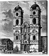 Peru: Jesuit Church, 1869 Acrylic Print