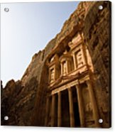 Petra Treasury At Morning Acrylic Print