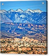 Petrified Dunes And La Sal Mountains Acrylic Print