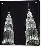 Petronas Tower Top Detail Acrylic Print