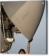 Petty Officer Inspects The Radar Of An Acrylic Print