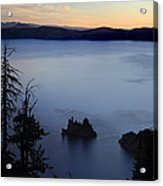 Phantom Ship Sunrise At Crater Lake Acrylic Print