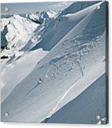 Phil Atkinson Skiing The Dogtooth Range Acrylic Print