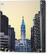 Philadelphia Cityhall At Dawn Acrylic Print