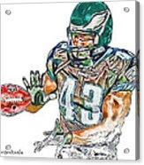 Philadelphia Eagles Leonard Weaver Acrylic Print