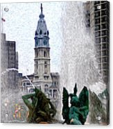 Philadelphia Fountain Acrylic Print