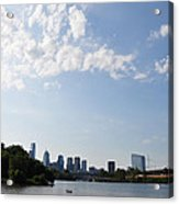 Philadelphia From Kelly Drive Acrylic Print