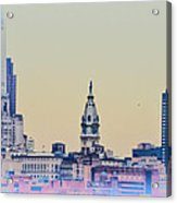 Philadelphia From South Camden Acrylic Print by Bill Cannon