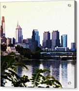 Philadelphia From The Banks Of The Schuylkill River Acrylic Print
