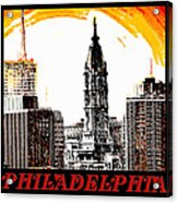 Philadelphia Poster Acrylic Print