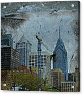 Philadelphia Skyline Acrylic Print by Mother Nature