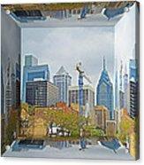 Philadelphia Skyline - Mirror Box Acrylic Print