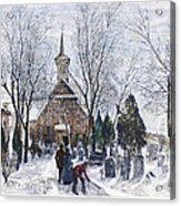 Philadelphia: Winter, 1873 Acrylic Print
